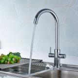 Colpetto di miscelatore dell'acqua della maniglia del doppio di Flg per il dispersore di cucina