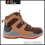 Zapato de seguridad del cuero genuino con EVA&Rubber Outsole (SN5443)