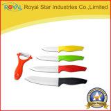 Оптовая продажа 6 керамического частей ножа кухни установленного с рисбермой инструмента Peeler