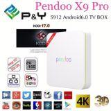 Bluetooth Kodi 17.0のアンドロイド6.0 TVボックスとのよの2016 P&YのPendoo新しく及び熱いX9プロAmlogic S912のOctaコア二重WiFi