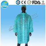 Revestimento descartável do laboratório de PP+PE, vestidos impermeáveis do laboratório