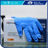 Pó descartável Ce/ISO/FDA livre das luvas do nitrilo aprovado
