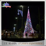 El árbol de Navidad sin hilos rojo barato del LED enciende la luz del árbol de navidad