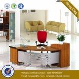 Muebles chinos de la chapa del vector ejecutivo del escritorio de madera sólida (HX-DS230)