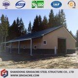 Fertigtürrahmen-Stahlaufbau für Werkstatt mit Büro