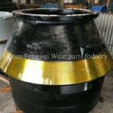 Capa del desgaste de la trituradora y de los recambios y trazador de líneas del tazón de fuente