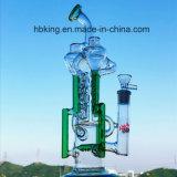 Tubo de agua de cristal de las nuevas de los diseños que fuma del reciclador del tabaco del color del tazón de fuente del arte del cenicero del cubilete plataformas petroleras embriagadoras de cristal altas del pelele