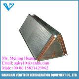 Cambiador de calor de aluminio vendedor caliente del tubo de cobre de la aleta