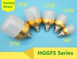 éclairage LED de 15W E27/B22/ampoule en aluminium en plastique