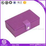 Rectángulo de cuero de empaquetado hecho a mano de lujo modificado para requisitos particulares de la joyería