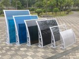Transparenter PC fester Blatt-Haustür-Regen-Deckel-Plastikarm-Kabinendach