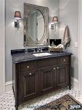 Module de salle de bains de peinture reflété par bassin en bois solide de vanité de Module