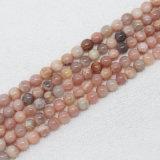 4 mm a 18 mm de perlas naturales Sunstone para hacer la joyería