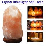 Lámpara Himalayan cristalina natural tallada mano de la sal de roca de la alta calidad