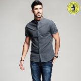 Vente chaude de la chemise de modèle des hommes neufs de vente en gros de coton Desige