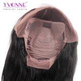 イボンヌ180%の密度のまっすぐな人間の毛髪のレースの前部かつらのブラジルのバージンの毛の自然なカラーは出荷を解放する