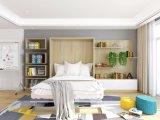 Doppeltes Murphy-Wand-Bett mit Schreibens-Schreibtisch