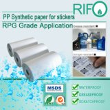Gli autoadesivi resistenti della rottura sono emerso materiale rivestito di BOPP con MSDS RoHS