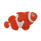 Lecteur flash USB de promotion de poissons d'eau de mer (UL-PVC036)