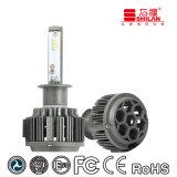 Kit de Conversão para Faróis LED Super Bright 35W T6 H1 Csp