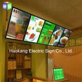 Panneau en aluminium de menu de cadre d'éclairage LED de profil