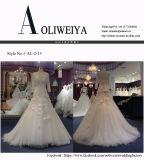 Vestido de casamento longo de Tulle da luva da sereia delicada do tamanho padrão