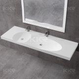 Personalizar o dissipador dobro das vaidade de pedra de superfície contínuas do banheiro