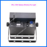 DMX 512 동위 64 단계 점화 9PCS 건전지 LED Parcan