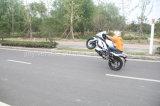 Competir con la demostración joven de la bici de la bici del deporte de la bici con el programa piloto que compite con profesional