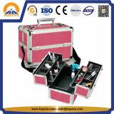 다기능 알루미늄 아름다움 여행 메이크업 상자 (HB-2208)