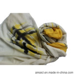 100% Worsted Wool Printed Stole Shawl (AHY30002234)
