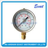Manometro d'acciaio Manometro-Inossidabile riempito liquido dell'Misurare-Olio di pressione del tubo di bordone