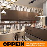 Oppein Caton ehrlich Exbit-Moderne ausgeglichenes Glas-kundenspezifische Küche 2017 (PLCC17060)