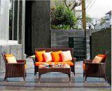 4 parti della mobilia del giardino della mobilia della mobilia esterna del rattan