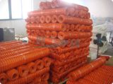 Загородка ячеистой сети безопасности померанцового HDPE пластичная