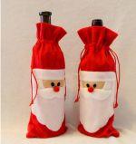 Decoración de la Navidad, bolsos del vino con diseño de la Navidad del padre