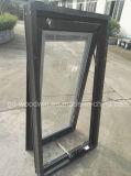 Le meilleur guichet en aluminium en verre Tempered de qualité de Foshan Woodwin avec l'écran de solides solubles
