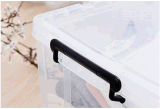 Caixa de armazenamento de plástico transparente de alta qualidade Hotsale Estojo de armazenamento empilhável doméstico para roupas de comida