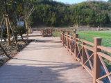 Decking composto plástico de madeira da paisagem e projeto de construção de WPC