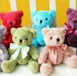 다채로운 연약한 채워진 견면 벨벳 장난감 곰 장난감