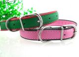 PU 개 고양이 고리 또는 애완 동물 고리 가죽끈 (KC0057)를 막는 색깔