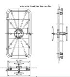 De mariene Snel handelende Waterdichte Deur van het Aluminium met Certificaat Nk