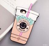 Silikon-Kasten-Karikatur-netter Wasser-Cup-Handy-Deckel für iPhone 6s 6plus iPhone 5 (XSF-071)