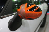 Orange Union Jack Replacement Side Mirror Cover for Mini Cooper