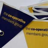 Bunt Grafiken gedruckte Zeichenkette-Markierungsfahnen für Dekoration kundenspezifisch anfertigen