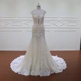 Schutzkappen-Hülsen-doppelte Schicht-Hochzeits-Kleid-Brautjunfer-Kleid