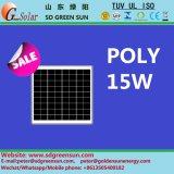 poli comitato solare di 18V 15W per 12V il sistema (2017)