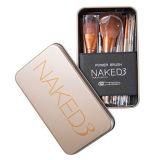 12PCS de gouden Professionele Uitrusting van de Borstel van de Make-up Naked3 met Groothandelsprijs