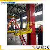 Ясный подъем автомобиля столба 4500kg пола 2 автоматический для тяжелого ремонта автомобиля