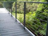 옥외 Decking를 위한 스테인리스 유리제 난간 또는 유리 방책